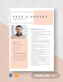 ESE Specialist Resume Template