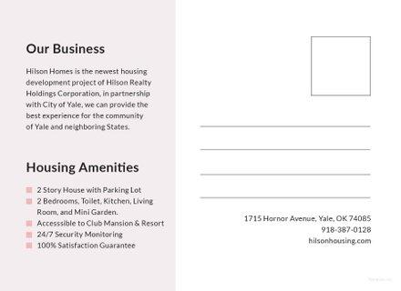 Blank Postcard Template In Adobe Illustrator Templatenet - Editable postcard template