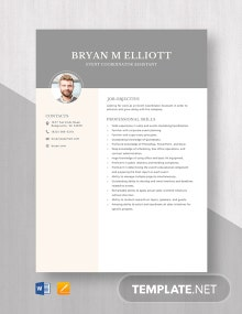 Event Coordinator Assistant Resume Template