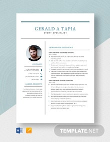Event Specialist Resume Template