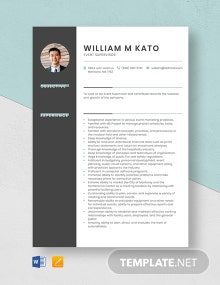 Event Supervisor Resume Template