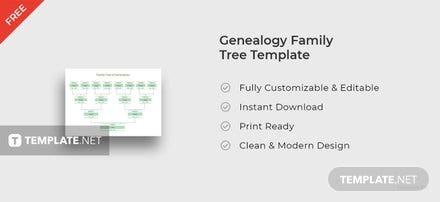 Genealogy Family Tree Template
