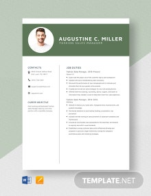 Fashion Sales Manager Resume Template