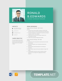 Fashion Showroom Manager Resume Template