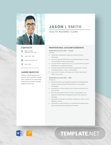 Health Records Clerk Resume Template