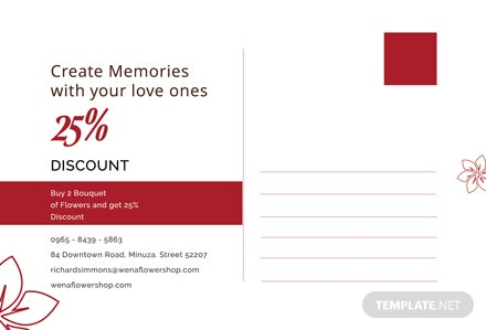 Free Promotional Postcard Template