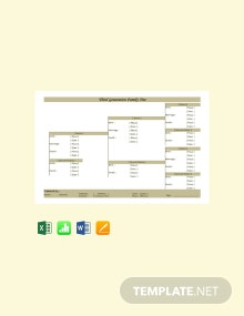 Free Third Generation Family Tree Template