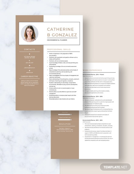 Environmental Planner Resume Download
