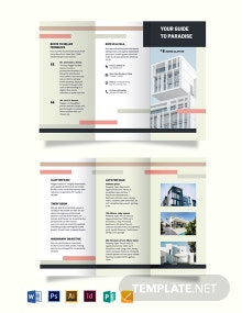 Professional Real Estate Broker Agent/Agency Tri-Fold Brochure Template