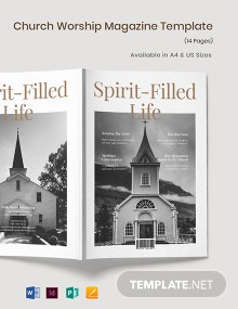 Church Worship Magazine Template