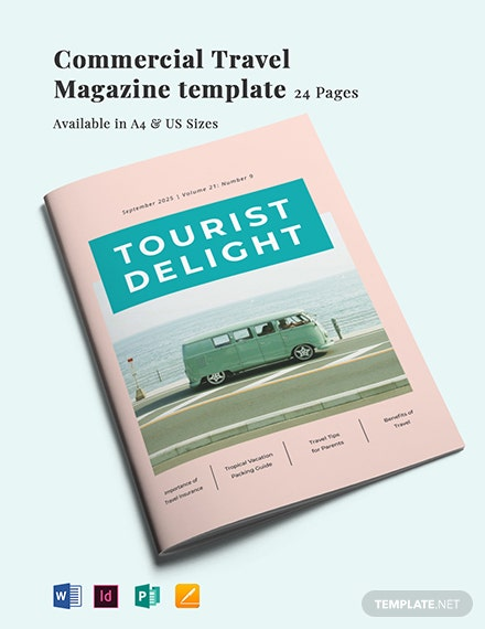 Commercial Travel Magazine Template