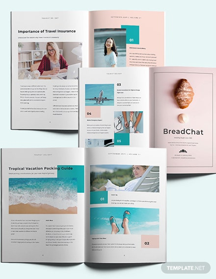 Commercial Travel Magazine Template [Free Publisher] - InDesign, Word, Apple Pages