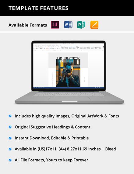 Editable Digital Photographer Magazine
