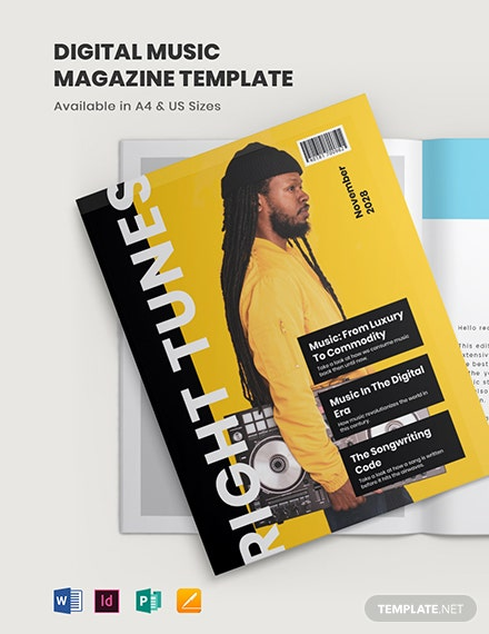 Digital Music Magazine Template