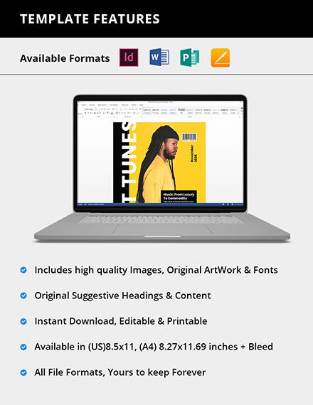 Editable Digital Music Magazine