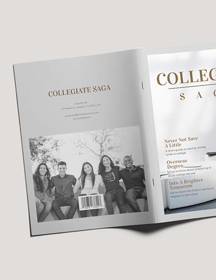 Customise Editable College Magazine
