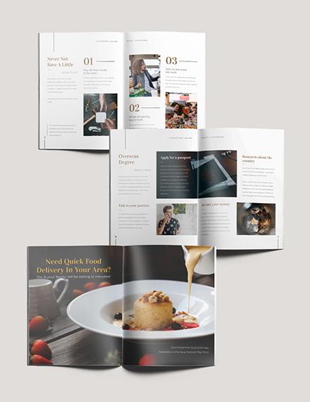 Editable College Magazine Download