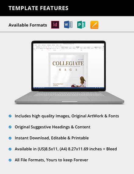 Editable Editable College Magazine