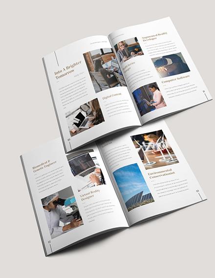 Sample Editable College Magazine