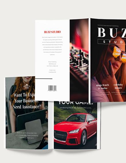 Customise Editable Entertainment Magazine