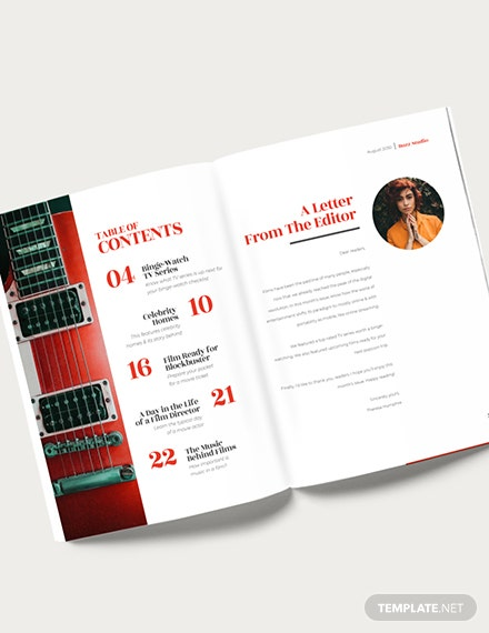 Editable Entertainment Magazine Download