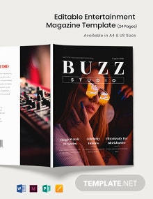 Editable Entertainment Magazine Template