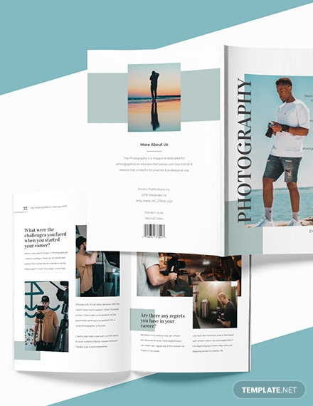Custamise Editable Photographer Magazine