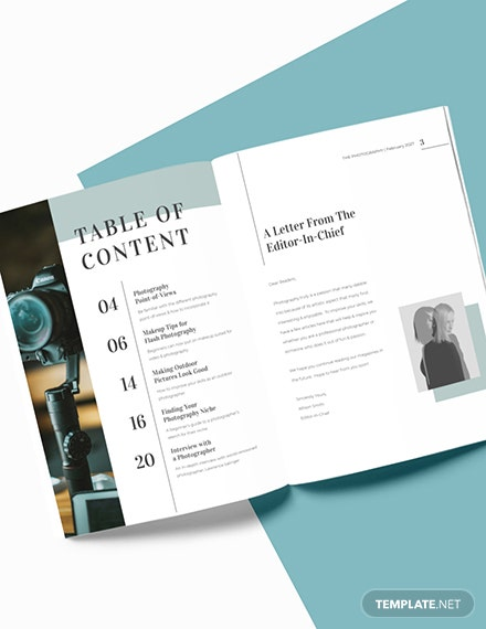 Editable Photographer Magazine Download
