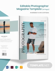 Editable Photographer Magazine Template