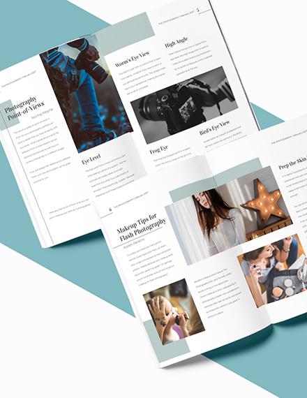 Sample Editable Photographer Magazine