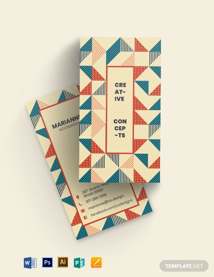 Creative Tiles Business Card Template