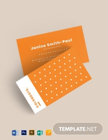 Dots Creative business card Template