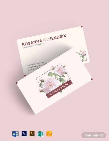 English Rose Business Card Template