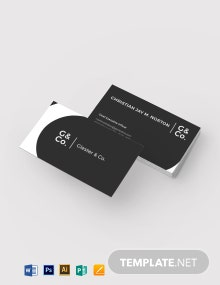 Executive Initial Business Card Template