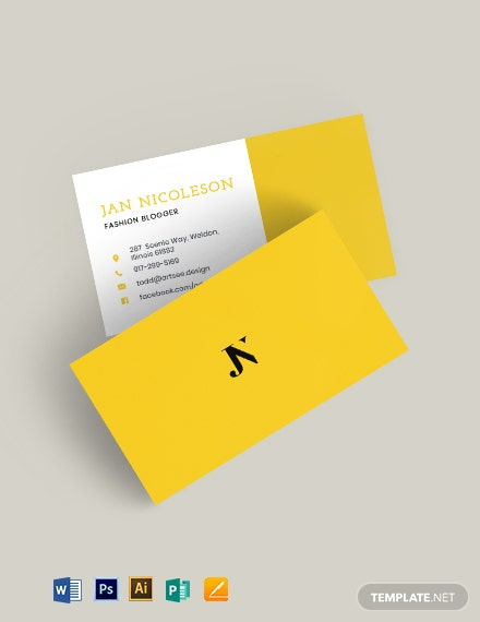 Fashion Blogger Business Card Template