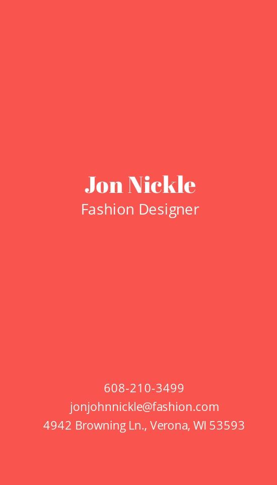Fashionista Business Card Template 1.jpe