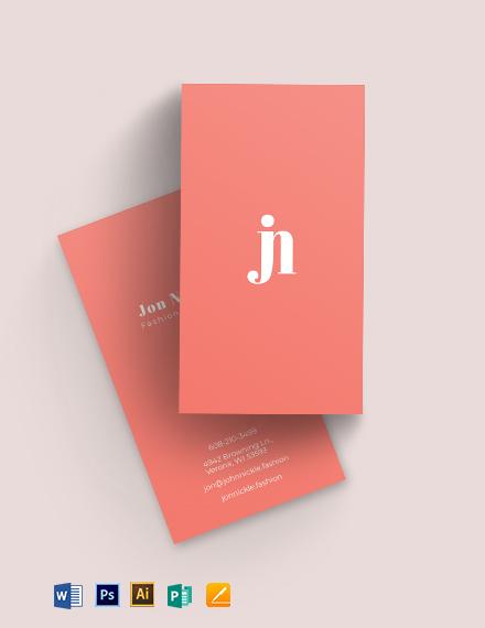Fashionista Business Card Template