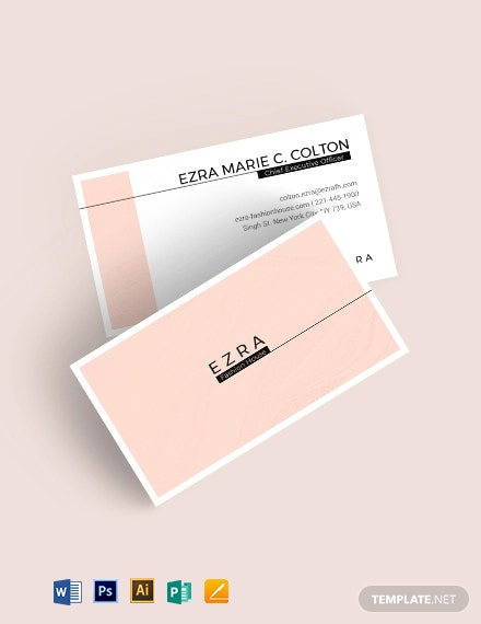 Fashion Business Card Template