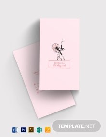 Feminine Mini Business Card Template