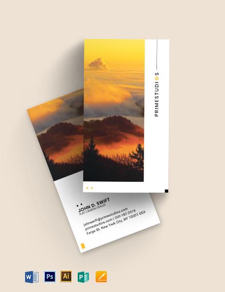 Flat Camera Business Card Template