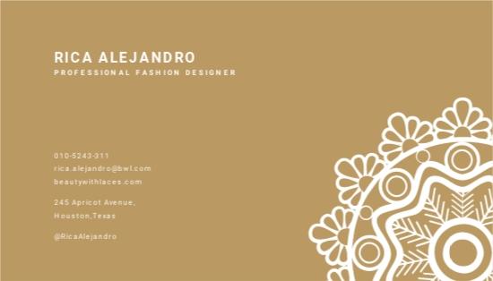 Floral Lace Vintage Business Card Template 1.jpe