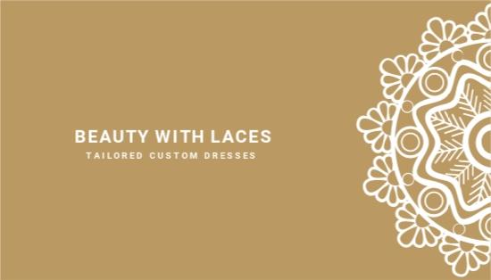 Floral Lace Vintage Business Card Template.jpe
