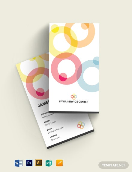Four Os Round Service Business Card Template