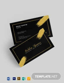Gold And Black Business Card Template