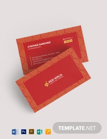 Gold And Red Business Card Template
