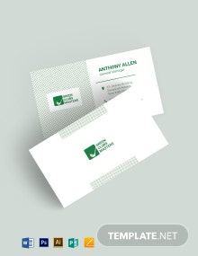 Golf Coaching Pattern Business Card Template