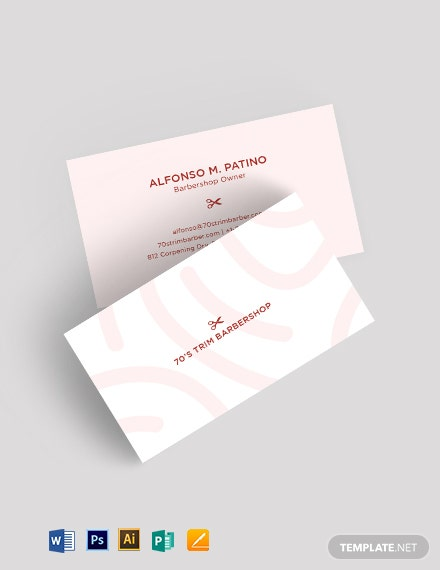 Hair and Fashion Business Card Template