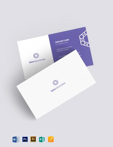 Hi Tech Business Card Template