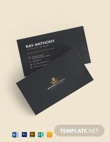 Indie Hair Stylist Business Card Template