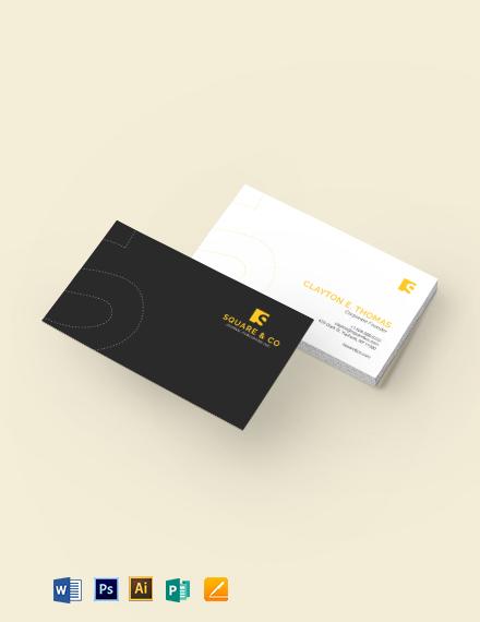 Journal Business Card Template